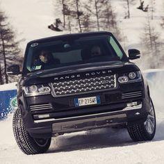 New Range Rover. Driving on ice. Livigno