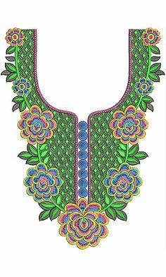 Crochet Petticoat Embroidery Neck Design