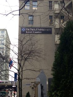 A sign you're in Chicago? DePaul University, by S. Fiederer (Chicago Pin of the Day, 11/16/2014).