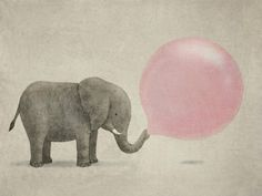 Here comes a feeling you thought you'd forgotten #elephant #pink #balloon