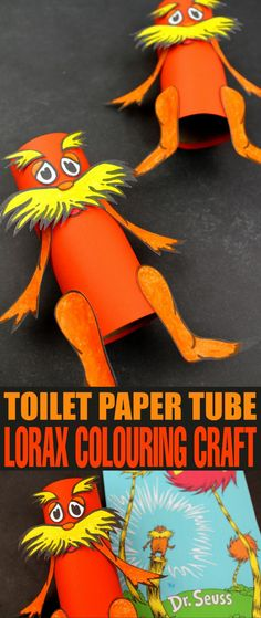 This Toilet Paper Tube Lorax Colouring Craft is a fun kids craft that ties in really well with classic Dr. Seuss book - The Lorax. It's a perfect craft for Dr. Seuss day which is coming up on the March 2nd!