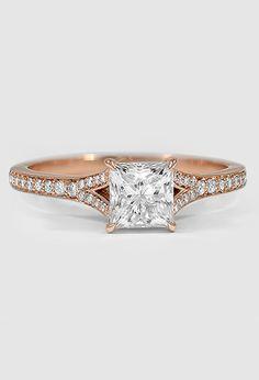 14K Rose Gold Duet Diamond Ring