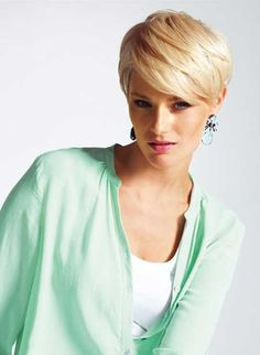 Charming Blonde Pixie
