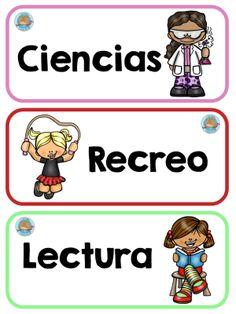 carteles-rutimas-y-horarios-4 - Imagenes Educativas Bilingual Classroom, Classroom Labels, Bilingual Education, Classroom Rules, Classroom Organization, Classroom Decor, Classroom Displays, Preschool Schedule, Preschool Writing