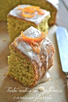 Torta rustica allo zafferano e arancia glassata