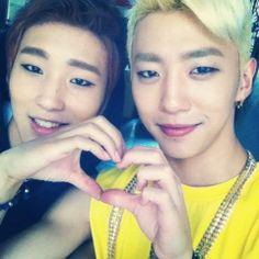 Jongup and Yongguk from B.A.P