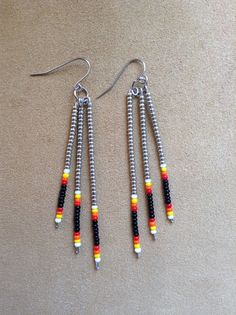 Native American style seed bead earrings by Beadcracka on Etsy