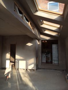 Plastering complete Kitchen Diner Extension, Open Plan Kitchen, House Extensions, Kitchen Extensions, Cellar Conversion, White Brick Houses, Conservatory Extension, Steel Frame House, Side Return
