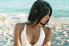 Unique pieces made of Rutilated Quartz Crystal stone. Each piece is unique.  ► Gold plated chain ► 17 inches (43cm) necklace ► Rutilated