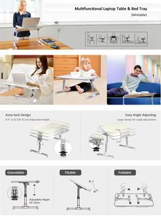 [2 Year Warranty] Avantree Adjustable Laptop Stand Bed Table, Portable Standing Desk, Foldable Sofa Breakfast Tray, Quality Notebook Stand, Book Reading Holder for Couch Floor Kids - Minitable: Amazon.co.uk: Electronics