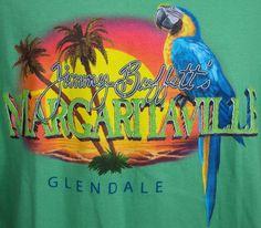 Jimmy Buffett Margaritaville T-shirt Mens L Glendale AZ Green Parrot Tropical SS #JimmyBuffettMargaritaville #GraphicTee