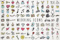 Hand Drawn Wedding Icons  @creativework247