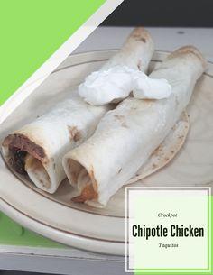 Crockpot Chipotle Chicken Taquitos recipe