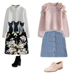 Designer Clothes, Shoes & Bags for Women Denim Skirt, Bell Sleeve Top, Topshop, Shoe Bag, Skirts, Polyvore, Stuff To Buy, Shopping, Collection