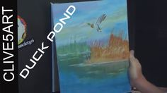 Simple Step by Step Acrylic Painting Reeds & Water with Duck  Available on http://Papr.Club as a Monthly Subscription