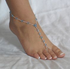 Barefoot sandals!  Perfect for something blue