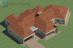 5 Bedroom Single Storey House Plan For Sale NethouseplansNethouseplans House Plans For Sale, House Plan With Loft, House Plans With Photos, Small House Plans, 6 Bedroom House Plans, 4 Bedroom House Designs, Garage House Plans, Design Bedroom, Double Storey House Plans