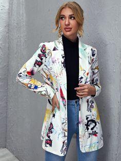 World Of Fashion, Diy Fashion, Runway Fashion, Fashion News, Ideias Fashion, Fashion Outfits, Blazers For Women, Coats For Women, Jackets For Women