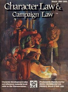 Product Line: Rolemaster  Product Edition: RM2  Product Name: Character Law & Campaign Law  Product Type:   Author:   Stock #: 1300  ISBN: 0-915795-03-5  Publisher: ICE  Cover Price: $10.00  Page Count: 104  Format: Softcover  Release Date: 1985  Language: English
