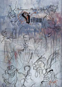My favorite villains with a very hand drawn quality. A reminder of the drawing roots of Disney animation. A Good Villain Disney Magic, Disney Art, Disney Movies, Evil Disney, Dark Disney, Disney Crafts, Disney Stuff, Disney Pixar, Best Villains