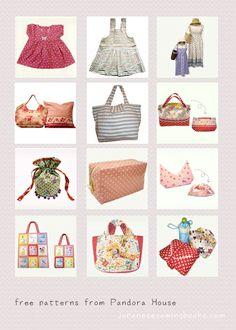 Free Japanese Sewing Pattern – Pandora House » Japanese Sewing, Pattern, Craft Books and Fabrics