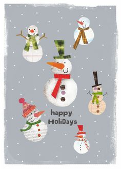 snowmen by Clare Fennell