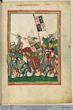 Codex Manesse, Herzog Johann von Brabant, Fol 18r, c. 1304-1340