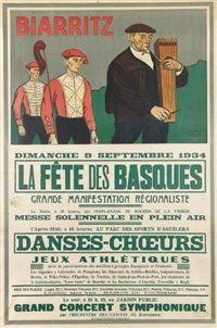 Biarritz, La Fête des basques, dimanche 9 septembre par Ramiro Arrue