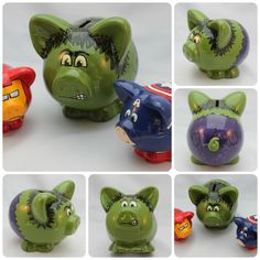 Small Ceramic Piggy Bank Made to Order by skotkincreations on Etsy, $65.00
