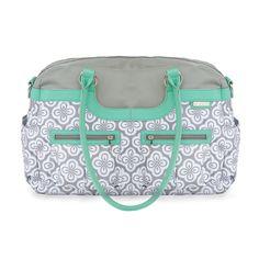 The diaper bag i want! JJ Cole Satchel in Azure Infinity