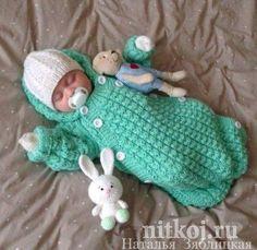 35 Ideas Knitting Bag Pattern Baby Sleeping For 2019 Crochet Baby Cocoon, Crochet Bebe, Crochet Baby Clothes, Crochet Baby Hats, Baby Knitting Patterns, Baby Patterns, Free Knitting, Baby Bunting Bag, Diy Crafts Knitting