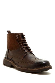 Des bottes Lino avec un contraste de matières vraiment bien pensé.