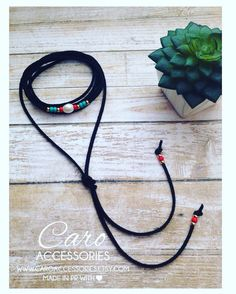 Choker negro. Collar ajustable. by CaroAccessories on Etsy