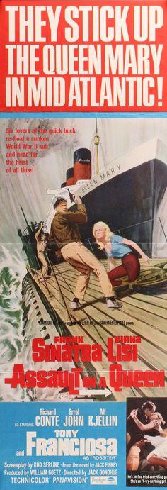"Assault on a Queen (1966) Vintage Insert Movie Poster - 14""x 36"""