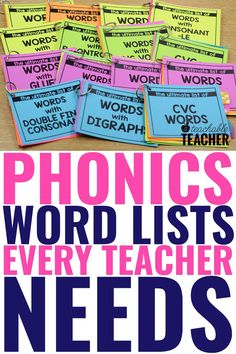 Are you looking for the Ultimate List of Phonics words? Phonics word lists make teaching and practicing phonics so much easier! Every reading teacher needs this ultimate set of phonics word lists to help make phonics instruction a breeze! Use them in your kindergarten classroom right at your fingertips! Phonics Rules, Phonics Words, Teaching Phonics, Phonics Activities, Teaching Strategies, Preschool Learning, Kindergarten Activities, Kindergarten Reading, Teaching Reading