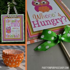Owl and Pumpkin Party Decorations https://www.etsy.com/listing/164677794/owl-and-pumpkin-birthday-party
