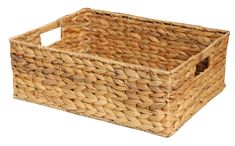 These Natural Water Hyacinth Rectangular Storage Baskets are handmade with a wire frame reinforcement and integral handles. A lovely natural storage solution perfect for any room and they also make for a great gift hamper basket. Lined Wicker Baskets, Wicker Baskets With Handles, Rattan Basket, Hamper Basket, Basket Tray, Storage Baskets With Lids, Water Hyacinth, Wire Frame, Gift Hampers