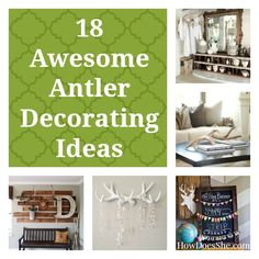 18 Awesome Antler Decorating Ideas {# 6 and #17…Swoon!} | How Does She