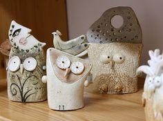 """""""Civette, Gufi, Barbagianni / Little owls, owls, barn owls"""" cod. 001, Ø 7 cm x…"""