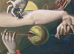 Max Ernst (German/French, 1891-1976), Sans titre, 1921. Collage and gouache on paper, 7 x 9 cm (9.3 x 11.3 cm)