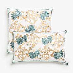Zara Home New Collection Zara Home España, Zara Home Collection, Decorative Cushions, Floral Embroidery, Home Accessories, Duvet Covers, Throw Pillows, Rugs, Oslo