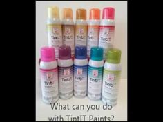 Design Master TintIT Multi-Use Transparent Dye #designmaster #spraypaint @dmcolortools http://www.dmcolor.com