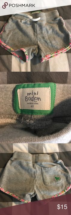 Mini Boden Sweat Shorts Girls 4 In good condition. Wash wear typical to material. Mini Boden Bottoms Shorts