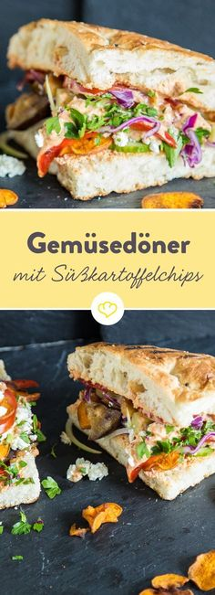 Wer das Fleisch lieber weglässt, muss trotzdem nicht auf die liebste Fast Food Köstlichkeit der Deutschen verzichten: Statt einfach nur auf das Fleisch zu verzichten, wird ein guter Veggie Döner mit allerlei Grillgemüse vollgepackt, mit cemiger Sauce bestrichen und mit knusprigen Süßkartoffelchips getoppt. Es erfordert zwar ein wenig Schnippelarbeit, aber das Ergebnis begeistert sogar überzeugte Fleischesser – versprochen.