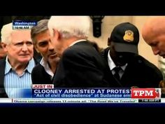 George Clooney takes action and gets arrested! He was cuffed for protesting human rights abuses outside the Sudanese embassy.