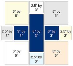 Low Volume Oakshott Plus Block | These are the cut sizes I u… | Flickr