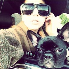 """Las Vegas baby with my partner in crime. And well see daddy in a few hours. Life is good,"" Lady Gaga captioned this selfie with her French bulldog named Asia."