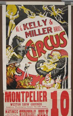 Circus Poster Colour And Tone