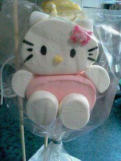 cute. Hello Kitty Marshmallow pop