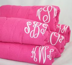 robes with monograms for bridesmaids